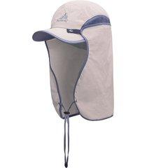 protección uv casquillo de sun del cuello extraíble cubierta de la cortina sombrero de color caqui pesca senderismo