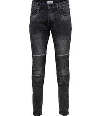 slim fit jeans spun zwarte biker