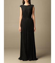 elisabetta franchi dress elisabetta franchi long dress in lurex fabric
