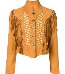 jessie western fringed jacket - neutrals