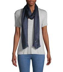 karl lagerfeld paris women's signature scarf - navy
