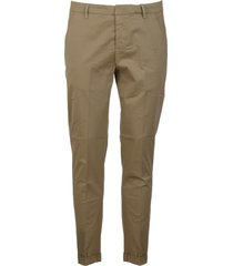 dondup turn up slim fit trousers