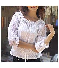 cotton blouse, 'summer breeze' (india)