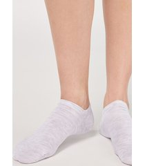 calzedonia unisex cotton no-show socks man grey size 44-45