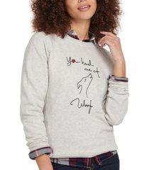barbour westbury cotton graphic sweatshirt