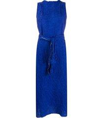 daniela gregis poplin balloon dress - blue