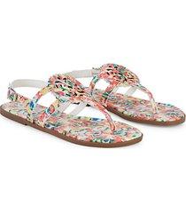 girl's tie-dye thong sandals