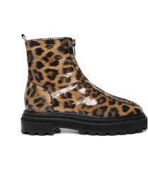 maryele bootie - 11 leopard patent leather
