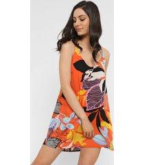 vestido naranja nano marina voule