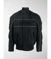 balenciaga logo wide-sleeve bomber jacket