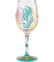 enesco wine glass coastal