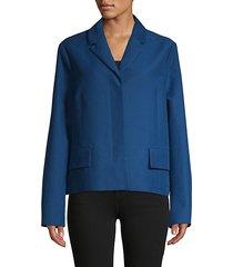 notch lapel cotton jacket