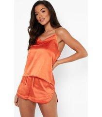 satijnen mix & match pyjama hemdje, orange