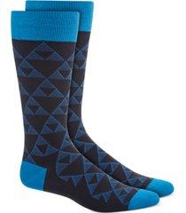 alfani men's linear triangle socks, created for macy's