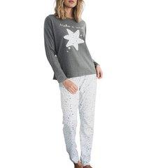 pyjama's / nachthemden admas maak een wish pyjamabroek lange mouwen