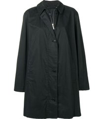 burberry pre-owned 2000's mid-length trench coat - black