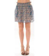 rok vero moda paisilla hw short skirt 10106801 bleu