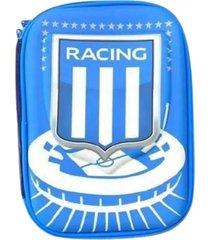 cartuchera azul racing