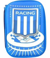 cartuchera azul racing