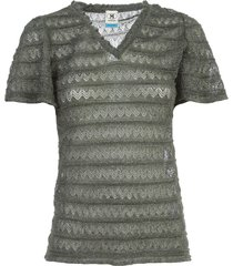 m missoni sweater s/s v neck lurex
