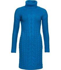abito in maglia a collo alto (blu) - bodyflirt boutique