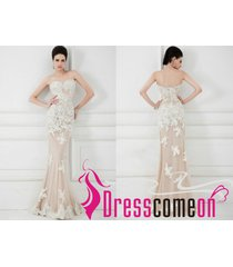 champagne prom dress,evening dress,party dress,prom gown,mermaid lace dresses