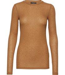 angela ls t-shirt stickad tröja brun bruuns bazaar