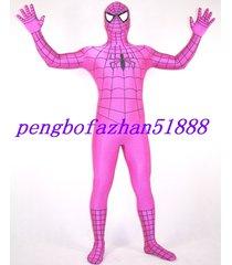 unisex hot pink spiderman hero suit catsuit costumes halloween cosplay suit s585
