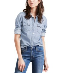 levi's the ultimate western cotton denim shirt