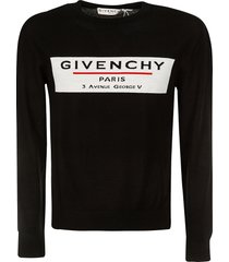givenchy front chest logo sweater