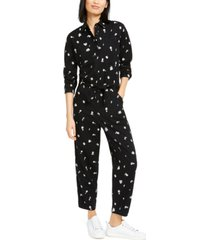 lucky brand logan cotton printed jumpsuit