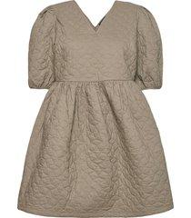 slfjulia 2/4 quilt dress ex korte jurk groen selected femme