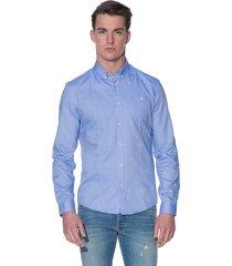 drykorn alex casual shirt met lange mouwen licht blauw