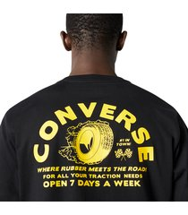 converse camiseta auto repair shop black