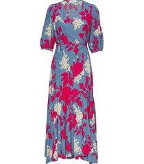 prt 3/4 slv wrap max jurk knielengte multi/patroon calvin klein