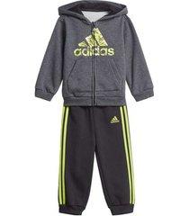 trainingspak adidas fleece hooded joggingpak