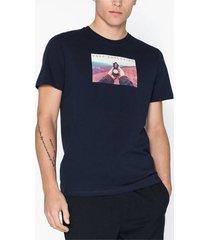 jack & jones jorsilent tee ss crew neck t-shirts & linnen mörk blå