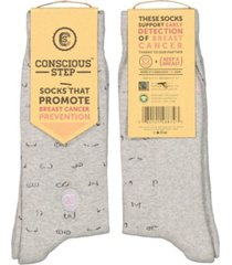 conscious step socks that promote breast cancer prevention