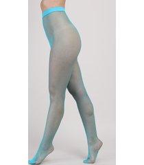 meia calça feminina trifil arrastão azul neon