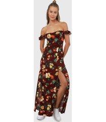 vestido vinotinto-multicolor ambiance