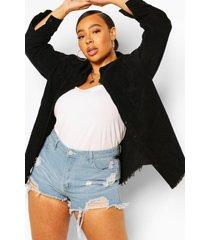plus oversized corduroy blouse