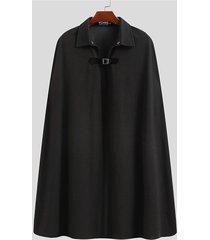 abrigo de capa de capa de un solo botón liso de primavera para hombre