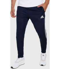 pantalón azul-blanco adidas performance