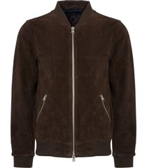 human scales chocolate suede russel jacket ja180113