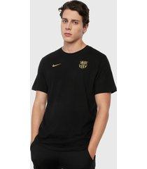 camiseta negro-dorado nike fc barcelona
