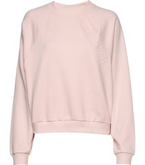 hella over embossed sweat-shirt tröja rosa blanche