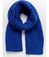 linda chunky knit oblong scarf - blue