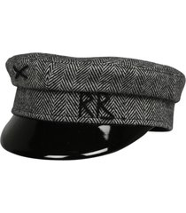 ruslan baginskiy monogram embroidered twill baker boy hat