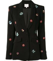 cinq a sept crystal embellished blazer - black