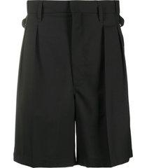 maison margiela tailored virgin wool shorts - black
